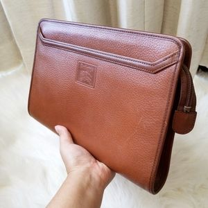 Vintage Burberry Leather Pouch Clutch
